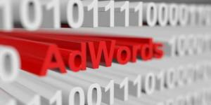 The word AdWords among a bunch of 1's and 0's